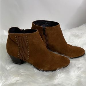 Franco Fortini Nicolette Suede Zipper Ankle Boots